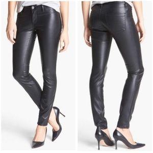 BlankNYC Spray On Faux Leather Pant Black Metallic